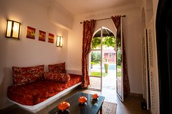 Salon chambre Marrakech avec sa piscine privée