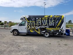 Our shuttle bus that will pick you up - bring you to Slideways and drop you back off for FREE to/from anywhere in Knoxville!