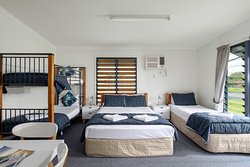 Family Room with Queen Bed, Single Bed and double bunk bed