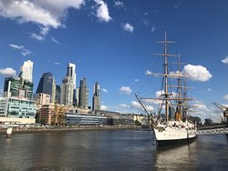 Puerto Madero with the frigate Sarmiento