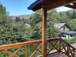 Vista desde el deck lateral y escalera