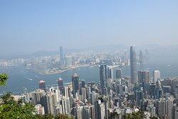 Photo taken from the peak (eye-bird view of HK)