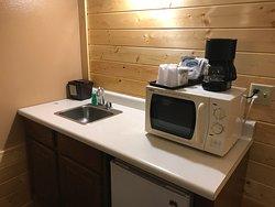 The coffee and microwave corner