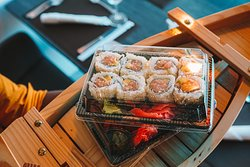 Come and get it. Take away sushi!