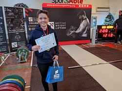 Our lifter Alex at his first BWL competition