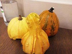 この季節ならではの雰囲気を醸し出すかぼちゃ