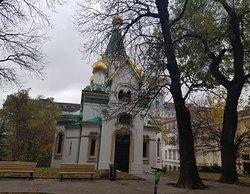 Beautiful church in park
