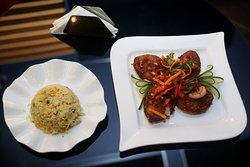 Fried Rice & Spicy Peppered Fish