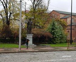 Beautiful statue on square