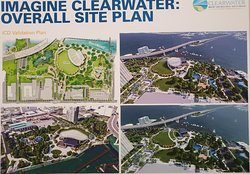 Imagine Clearwater 30% artist rendering of Coachman Park and Bluff area