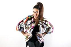 Mink multicolour fur jacket
