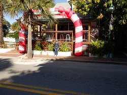 Third Wave Restaurant decorated for Christmas