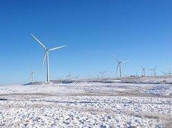Turbines in the snow