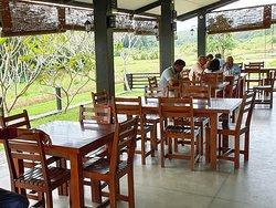 Dining area ovelooking fields