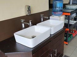 Hand washing here