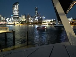 View of the Brisbane city lights from the Maritime Museum