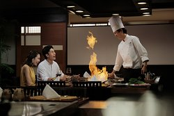 Enjoy live cooking at Unkai Teppan Grill or Teppanyaki for an entertaining dining experience.  Unkai Teppan Grill or Teppanyaki is well known for using the high-quality ingredients cooked by our skilled chefs using the hot iron griddle.