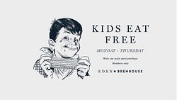 Kids Eat Free Monday to Thursday when a main meal is purchased