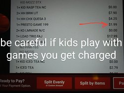 Just be careful if your kids at games on the monitor on the table. There's a $2 charge at Applebee's