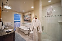 Historic claw foot tub beckons you in the Isabelle Suite at the River Belle Inn