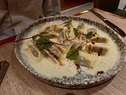Gnocchi--ricotta semolina dumpling, braised rabbit sugo, marjoram, grana padano--The Factory Kitchen--3355 Las Vegas Blvd. S--Las Vegas, NV