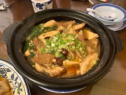 Claypot Smelly Tofu and Pork Large Intestine