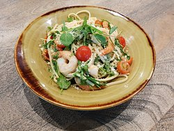 Prawn Linguine at Canberra Southern Cross Club, Tuggeranong