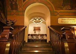 Der Treppenaufgang vom Fasskeller ins Lutherzimmer