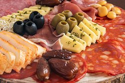 Cold cuts and portuguese cheese.