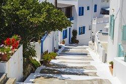 Greek island and its hidden alleys