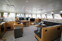 Interior from our Catamaran Casino Royale