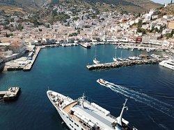 Greek Island Harbor