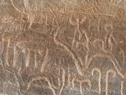 Ancient inscriptions in Wadi Rum