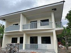 Front view of the new units still under construction at Adayo Cove Resort.