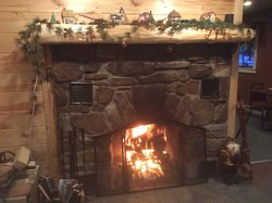 Have your dinner by our cozy fireplace!