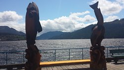 An incredible viewpoint located at Harbour Quay looking south along the beautiful Alberni Inlet