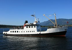 The MV Frances Barkley is operated year round by Lady Rose Marine Services in Port Alberni. A beautiful way to see the magic of the Alberni Inlet. Three times weekly to / from Bamfield all year long and in the summer months the ship adds in a round trip, also 3 times per week to Ucluelet traveling through the Broken Group Islands.