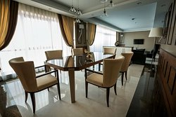 Suite Dining Area and Living Area in Background