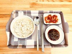 Breakfast, 'Chodang sundubu'(soft tofu). It's a famous food in Gangneung.