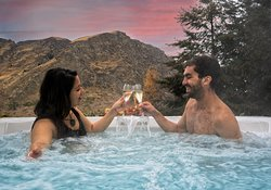 Private outdoor hot tubs