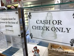 yep, cash or checks - no credit cards