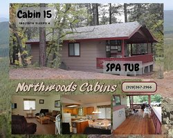 Northwoods Cabins Resort White Mountains, Arizona Vacations  Furnished Pinetop Cabin Rentals