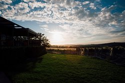 Amazing sunsets over the rolling hills and vineyards