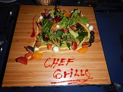 Wonderful salad made special for us by Chef Grillo!