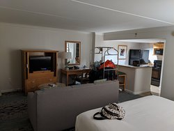 Studio suite, King bed with sofa bed.