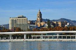zicht op Malaga