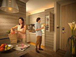 PPsuites bed kitchen