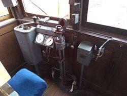 昔使われた電車が展示しています