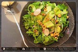 The Green Salad at Cloves Restaurant
