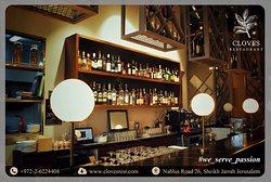 The indoor Bar at Cloves Restaurant